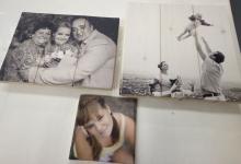 печать на досках, семейное фото