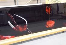 Кухонный фартук на стекле