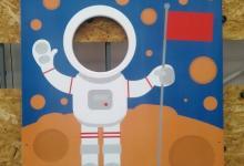 Космонавт, УФ печать на МДФ, для детской игровой площадки