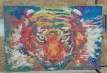 Картина на дереве, Тигр